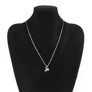 Jewelry - Luna Tiny Moon and Pearl Necklace Silver